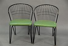 Set of six 1950's metal dining chairs.