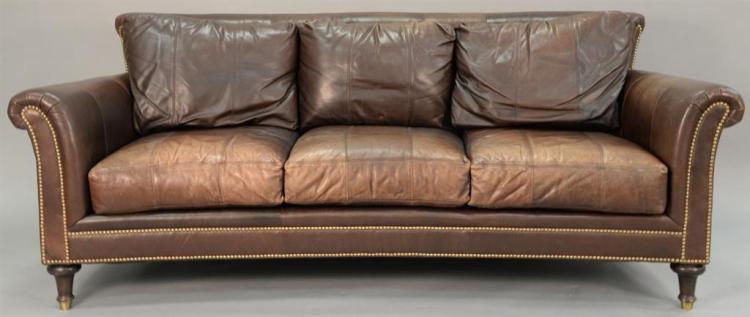 Ferguson Copeland Leather Sofa. Wd.87