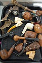 Group of pipes to include Meerschaum, German pipes, Italian pipes, etc.
