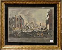1787-1844 William James Bennett Detroit From Canada Shore Near Ferry Moderate Price