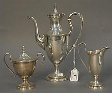 S. Kirk sterling three piece tea set, 30.9 t oz.