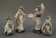 Group of four Lladros including