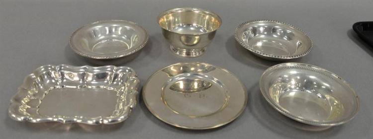 Six piece sterling silver lot. 20.53 t oz