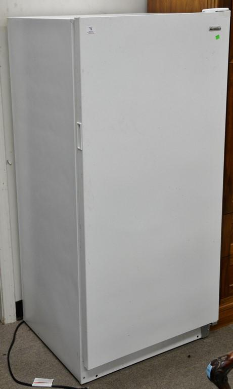 Kenmore upright freezer. ht. 60in.; wd. 28in.; dp. 26in.