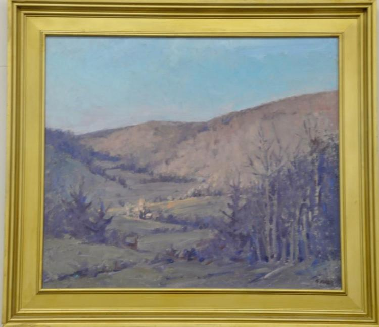 Gary Fifer (1955) oil on canvas Sunlite Valley, signed lower right: G. Fifer, 24
