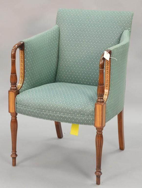 Southwood Sheraton style armchair with inlay.
