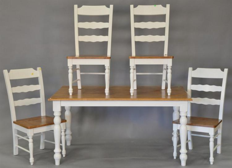 Contemmporary kitchen table and four chairs. 36