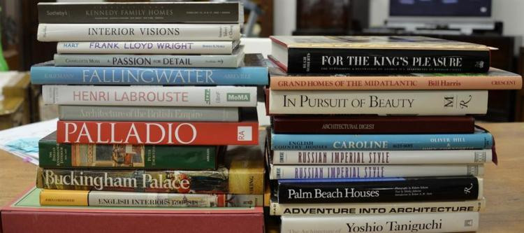 Lot of twenty-three coffee table architectural themed books to include Horn's