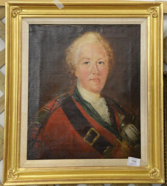 18th Century portrait oil on canvas, Charles Edaward Louis Philip Casimir Stuart, Young Chevalier or Bonnie Prince Charlie (1720-178...