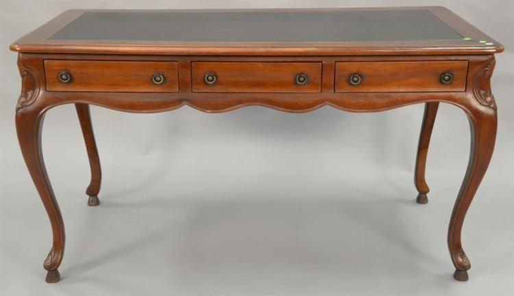 Louis XV style writing desk/table, ht. 37in., top: 32
