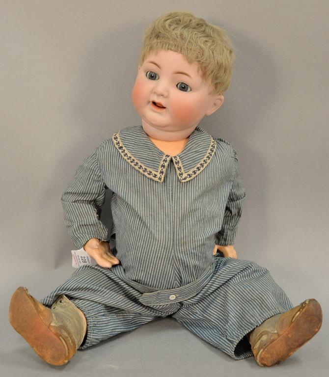 Simon & Halbig bisque head boy doll marked: Simon & Halbig 126 62. ht. 24