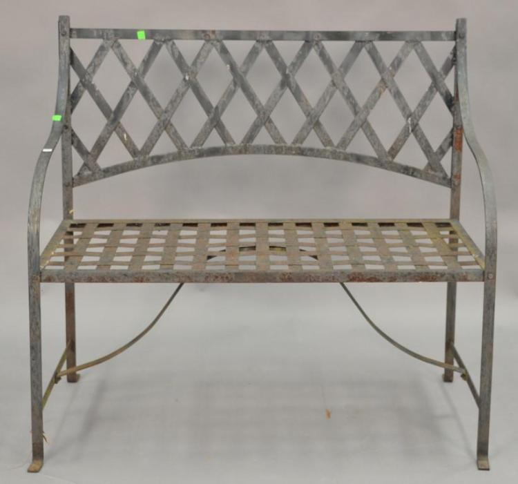 Iron bench. wd. 40in.