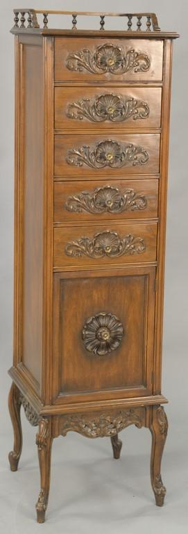Two loungerie chests. ht. 60 1/2in. & 49in.