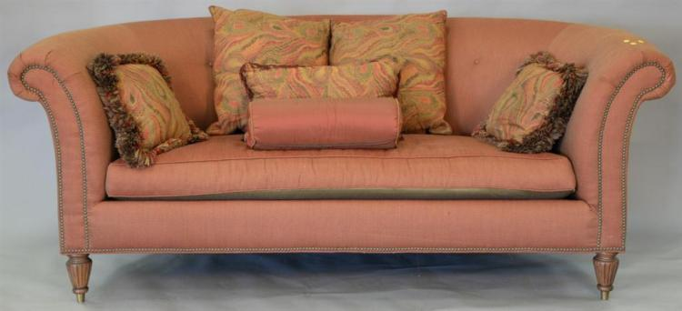 Devonshire curved sofa. lg. 93in.