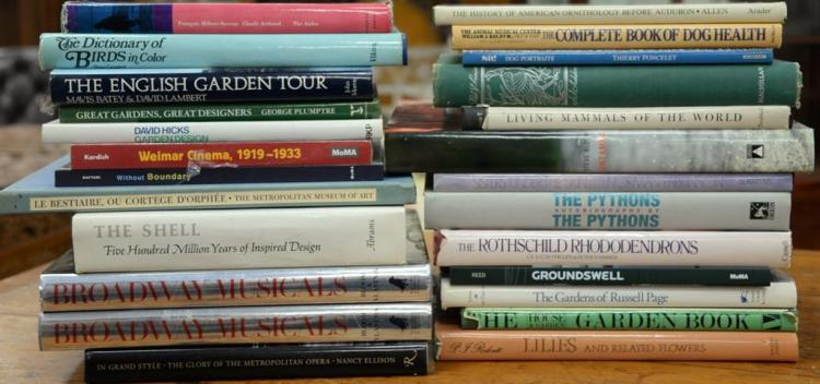 Lot of twenty-five miscellaneous coffee table books to include Batey's