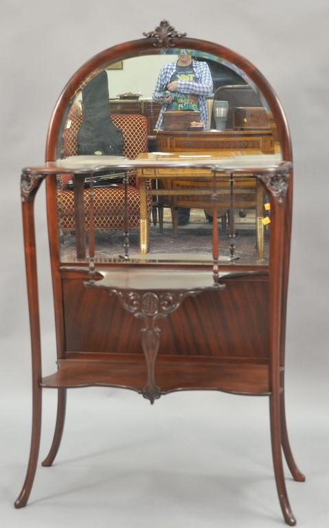 Paine Furniture Co. Victorian mahogany etagere. ht. 59in., wd. 32in.