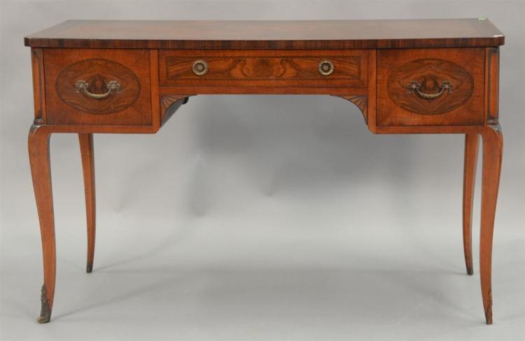 Louis XV style burlwood vanity. ht. 30in., top: 19