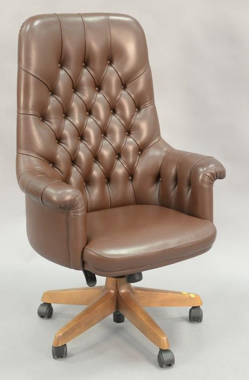 Poltrona Frau Italian leather executive chair.