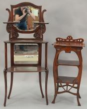 Two etagere stands.