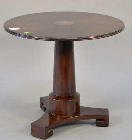 Round Baker occasional table with inlaid top.