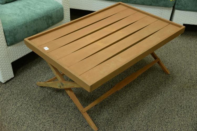 Teak Folding Coffee Table, Possibly Donghia Or Ja 296 C 0fb418eaa5 on Nadeau Furniture Console