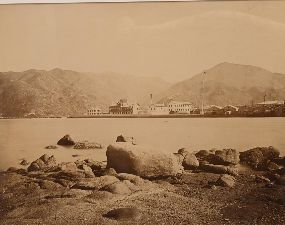 Charles Leander Weed American 1824 - 1903 View of Colon, Panama, circa 1863 albumen print sight size 15 1/4 x 19 1/4 inches