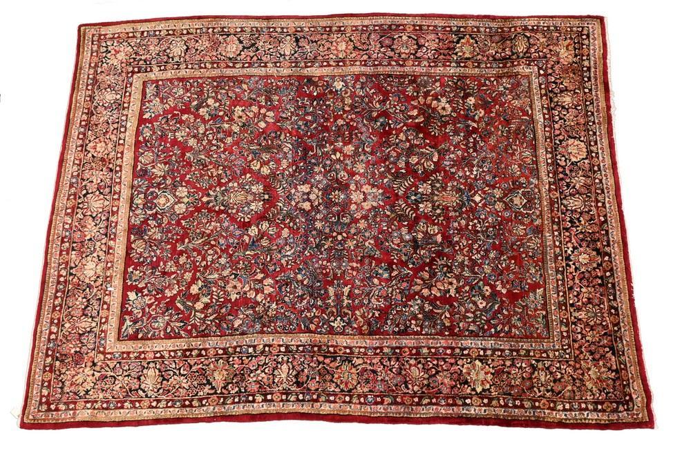 "Sarouk Oriental Carpet8' 10"" x 11' 9"""