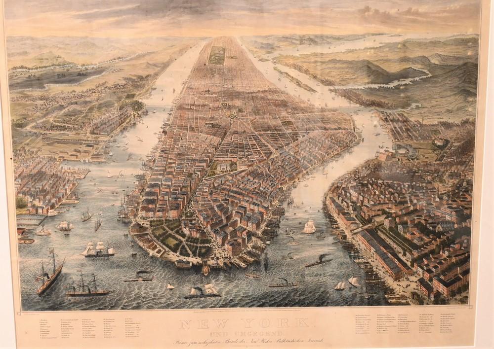 R. KupferNew York und Umegendcirca 1867engraving 18 x 26 3/4 inches