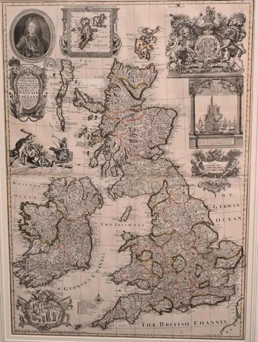 George WilldeyBritish, active 1707 - 1737Great Britain and Ireland1715engraving with hand coloring on papersight size 38 x 26 1...