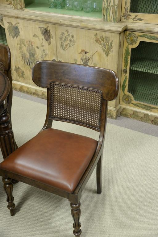 Set Of Eight Ralph Lauren Regency Style Chairs Having Caned