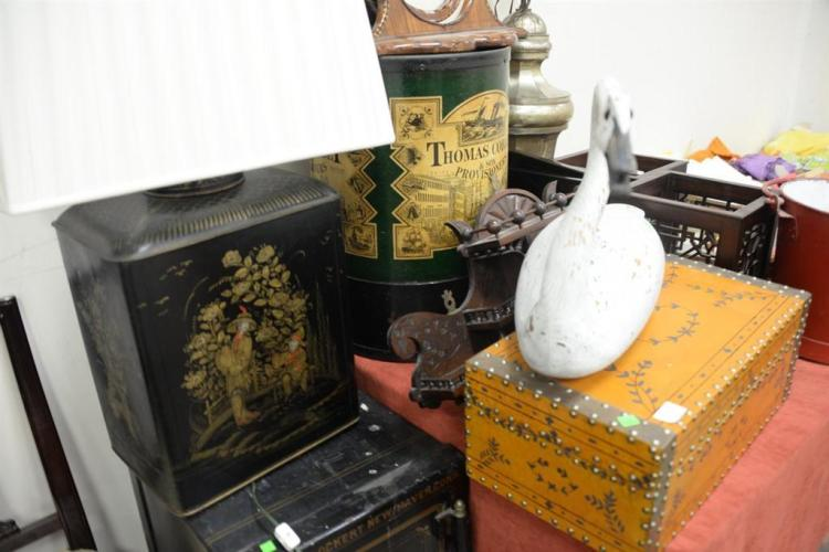 Group of eleven decorative items to include thomas cobbet ha for Decorative items from waste