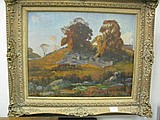 George Victor Grinnell (1878 - 1946) AUTUMN HILL SIDE oil on canvas signed lower left G. Victor Grinnell