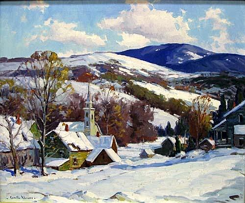 Camillo Adriani (20th century) HILLSIDE WINTER