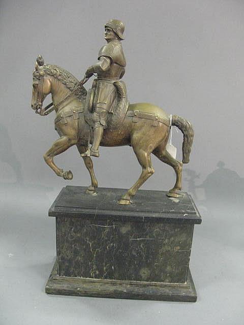 Bronze sculpture of Bartolommeo Colleoni on