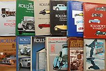 Two boxes of Rolls Royce books - many Dalton Watson publications