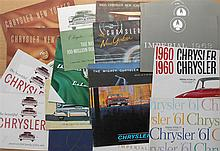 1950'-1960's Chrysler brochures, 35 items