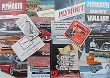 1950'-1960's- early 1970's Dodge and Plymouth brochures, 150 plus items