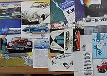 1950's-1960's VW and DKW brochures, 24 items
