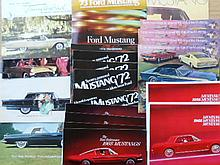 1950's-1980's Mustang, Shelby, Thunderbird brochures, 66 items