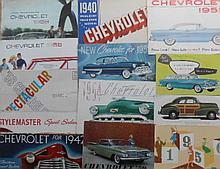 1940's-1950's Chevrolet brochures, 39 items