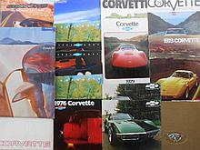 1970's-2000's Corvette brochures, 37 items