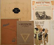 Four catalogs - 1911 Hudson, 1912 Inter-State, 1915 Mitchell, 1916 Book of Loco and 1912 Metz fldr
