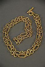 David Yurman 18K gold chain. lg. 32in.; 96.8 grams.