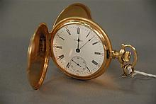 E. Howard closed face pocket watch with face, works, and case marked E. Howard, in original Howard wooden box and original paper (gl...