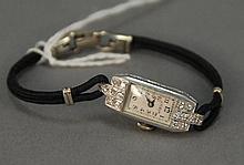 Lyceum platinum and diamond ladies wristwatch.