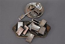 Large group of sterling to include match box covers, small dishes etc, 17.9 t. oz.