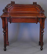 Victorian mahogany server with drawer.