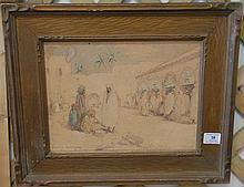 Herbert Cyrus Farnum (1866-1925) BISKRA, watercolor, signed lower left H. Cyrus Farnum, Biskra 10