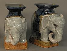 Pair of elephant garden seats.