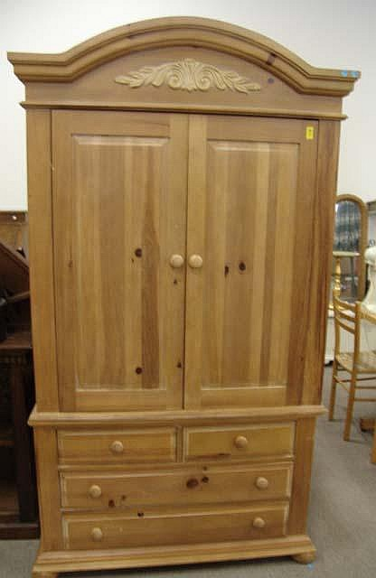Broyhill Pine Armoire Television Cabinet
